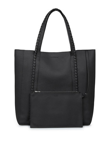 Allsaints Ray Leather Tote-BLACK-One Size