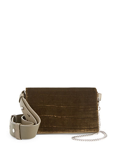 Allsaints Keel Leather Shoulder Bag-GREY-One Size