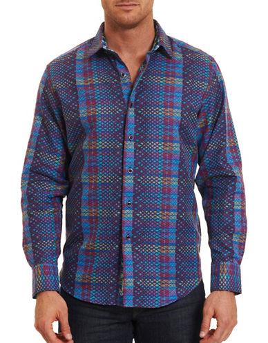 Robert Graham Albert Finney Long Sleeve Patterned Cotton Shirt-MULTI-Medium