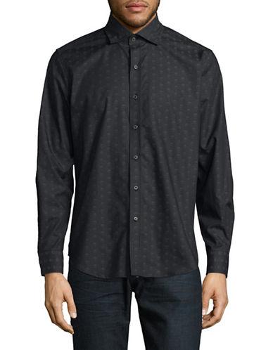 Robert Graham Skull Fit Sport Shirt-BLACK-Large