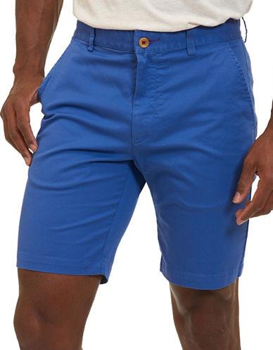Robert Graham Pioneer Pima Cotton-Blend Shorts-COBALT-40