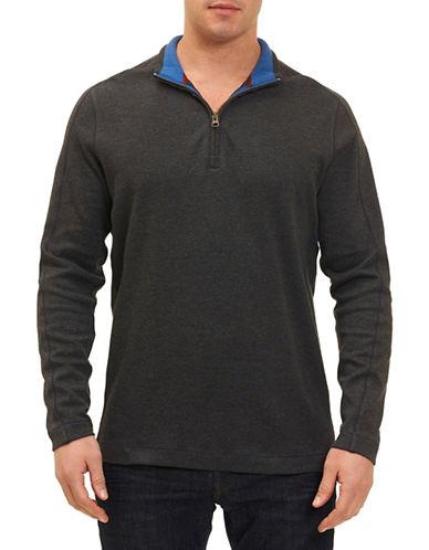 Robert Graham Zip Sweatshirt-DARK CHARCOAL-Large