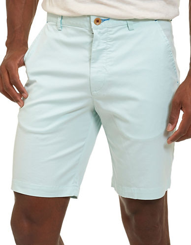 Robert Graham Pioneer Pima Cotton-Blend Shorts-SKY BLUE-38