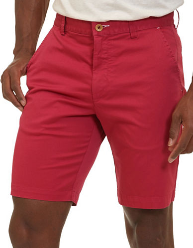 Robert Graham Pioneer Pima Cotton-Blend Shorts-RED-40