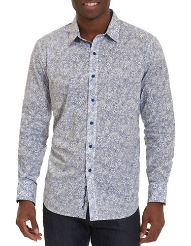 Robert Graham Moss Landing Cotton Shirt-BLUE-Medium