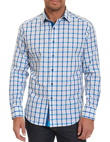 Robert Graham Hollister Checked Cotton Shirt-BLUE-X-Large
