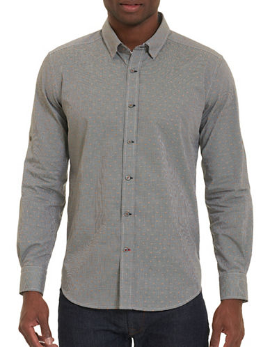 Robert Graham Woven Long Sleeve Shirt-BLACK-X-Large