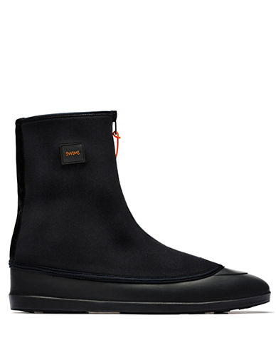 Hudson Jeans Mobster Waterproof Boots-BLACK-Medium