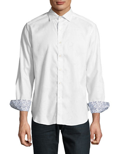 Robert Graham Egyptian Cotton Sport Shirt-WHITE-Large