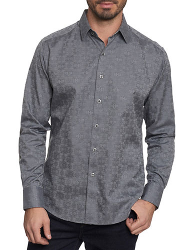 Robert Graham Cullen Sport Shirt-GREY-Medium