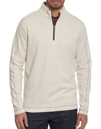 Robert Graham Half-Zip Pullover-WHITE-Large
