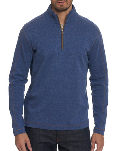 Robert Graham Half-Zip Pullover-BLUE-X-Large