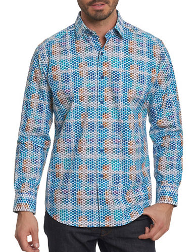 Robert Graham Circle Print Sport Shirt-MULTI-Large
