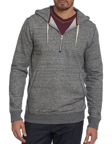 Robert Graham Zip-Up Hoodie-GREY-Medium