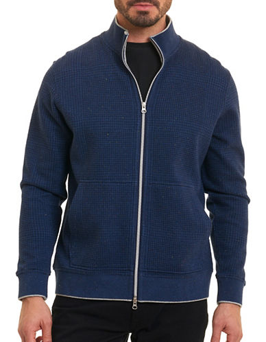 Robert Graham Zip Front Sweater-NAVY-Large