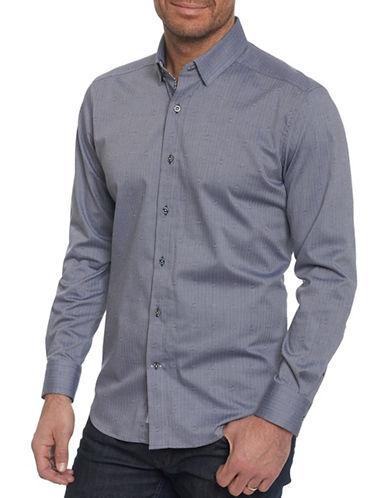 Robert Graham Embroidered Sport Shirt-NAVY-X-Large