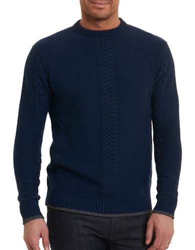 Robert Graham Pullover Sweater-NAVY-Medium
