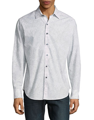 Robert Graham Paisley Sport Shirt-WHITE-XX-Large