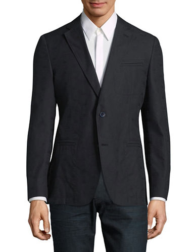 Robert Graham Welt-Pocket Cotton Jacket-BLACK-38