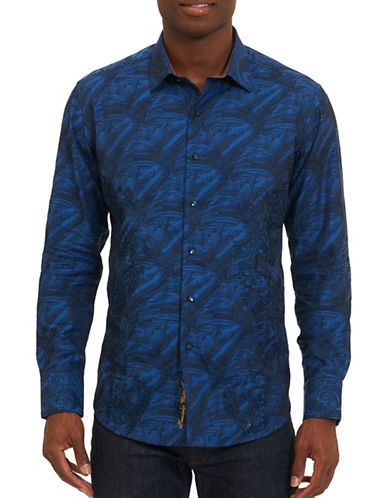 Robert Graham Breck Cotton Jacket-BLUE-Medium