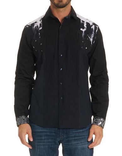 Robert Graham Embellished Long-Sleeve Cotton Sport Shirt-BLACK-Medium 89775787_BLACK_Medium