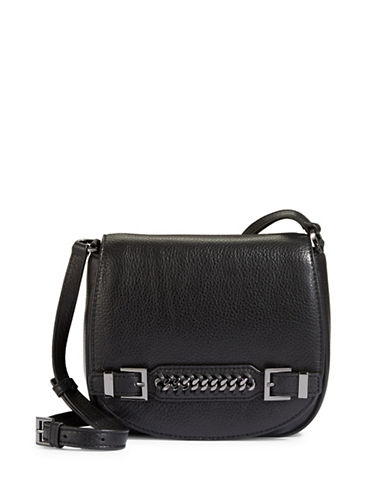 Diane Von Furstenberg Iggy Leather Saddle Crossbody-BLACK-One Size