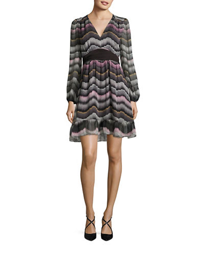 Diane Von Furstenberg Lizabeth Printed Silk Dress-ASSORTED-6
