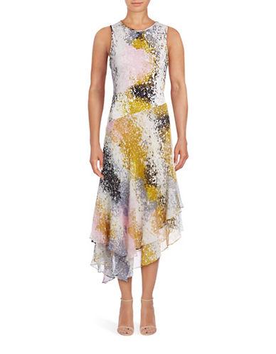 Diane Von Furstenberg Klarra Splatter Print Dress-MULTI-14