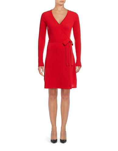 Diane Von Furstenberg Kerry Wool-Cashmere Self-Wrap Dress-