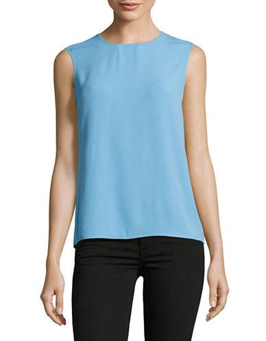 Diane Von Furstenberg Hacci Knit Trapeze Tank-BLUE-Medium 89113042_BLUE_Medium