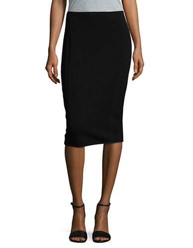 Diane Von Furstenberg Knit Pencil Skirt-BLACK-Large