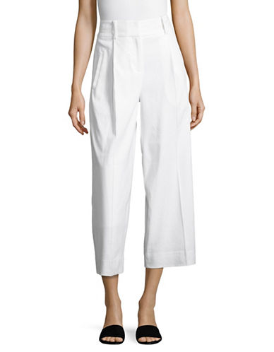 Diane Von Furstenberg High Waist Culottes Pants-WHITE-12