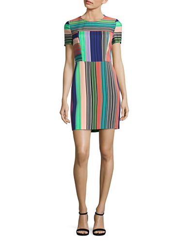 Diane Von Furstenberg Printed Shift Dress-MULTI-8