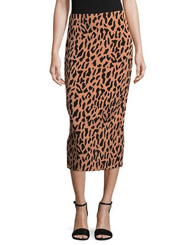 Diane Von Furstenberg Floral Midi Pencil Skirt-BEIGE MULTI-0