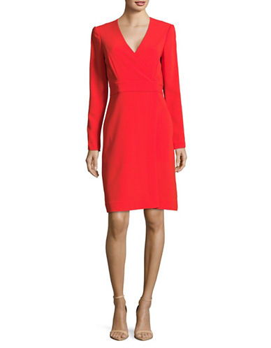 Diane Von Furstenberg V-Neck Wrap Dress-RED-4