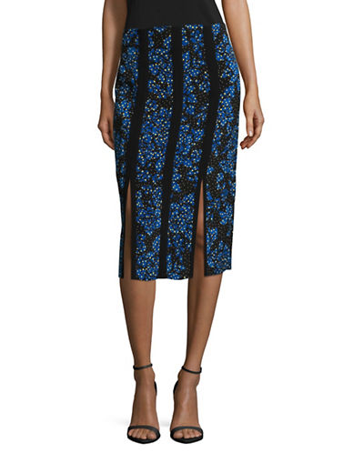 Diane Von Furstenberg High-Waist Pencil Skirt-BLACK MULTI-14