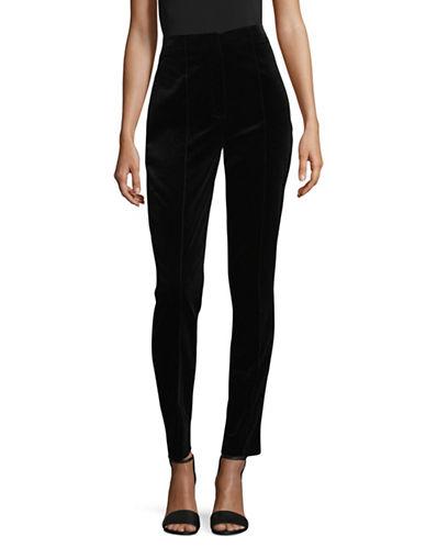 Diane Von Furstenberg High-Waist Skinny Pants-BLACK-6