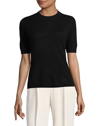 Diane Von Furstenberg Crew Neck Cashmere Pullover-BLACK-Small