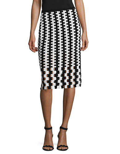 Diane Von Furstenberg Merino Wool Pencil Skirt-BLACK-Small
