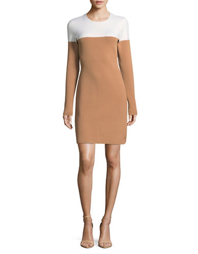 Diane Von Furstenberg Colourblocked Dress-BEIGE-X-Small