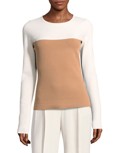 Diane Von Furstenberg Colourblocked Pullover-BEIGE-Medium