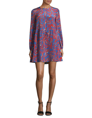 Diane Von Furstenberg Silk Mini Dress-BLUE MULTI-2