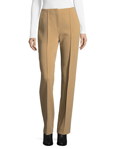 Diane Von Furstenberg Straight-Fit Pleated Trousers-BEIGE-0