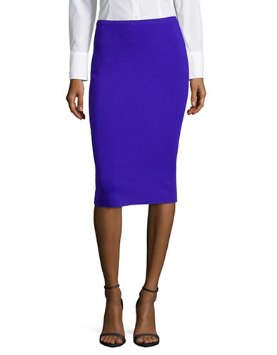 Diane Von Furstenberg Pull-On Pencil Skirt-BLUE-Large