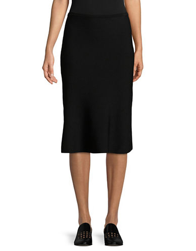 Diane Von Furstenberg Flute Knee-Length Skirt-BLACK-Medium