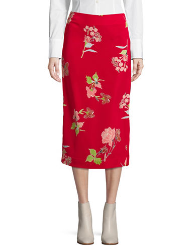 Diane Von Furstenberg Tailored Midi Pencil Skirt-EVERTON-10