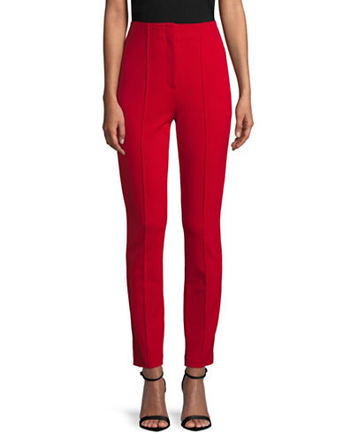 Diane Von Furstenberg High-Waist Cigarette Pants-RED-8