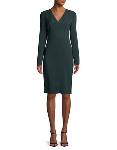 Diane Von Furstenberg V-Neck Knee-Length Dress-GREEN-0