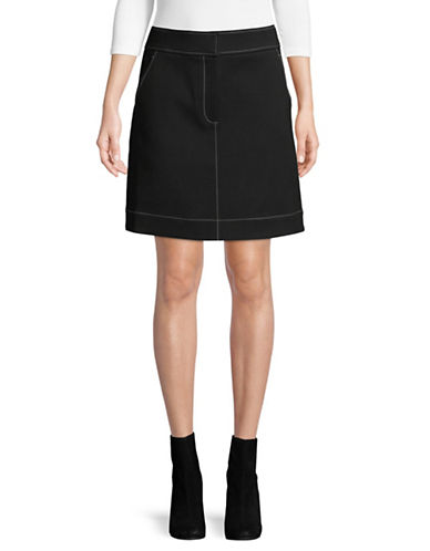 Diane Von Furstenberg Flared Mini Skirt-BLACK-6