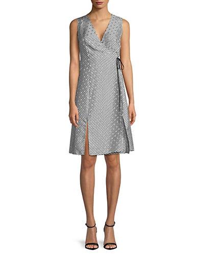 Diane Von Furstenberg Printed Wrapped Silk Dress 90078324